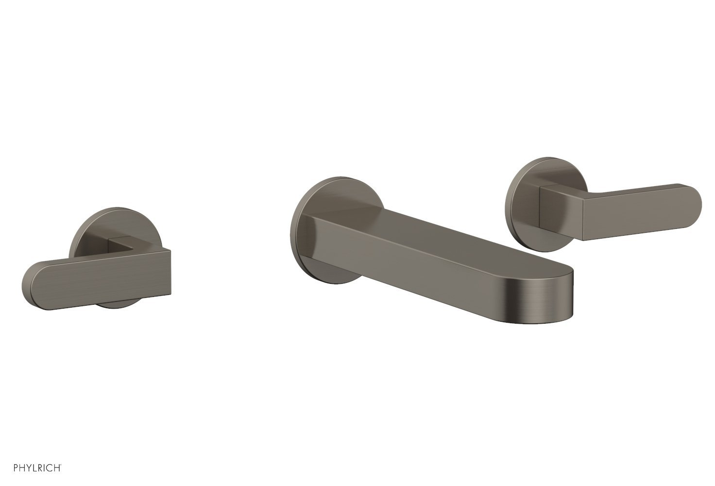 Phylrich 183-12-15A ROND Wall Lavatory Set - Lever Handles - Pewter