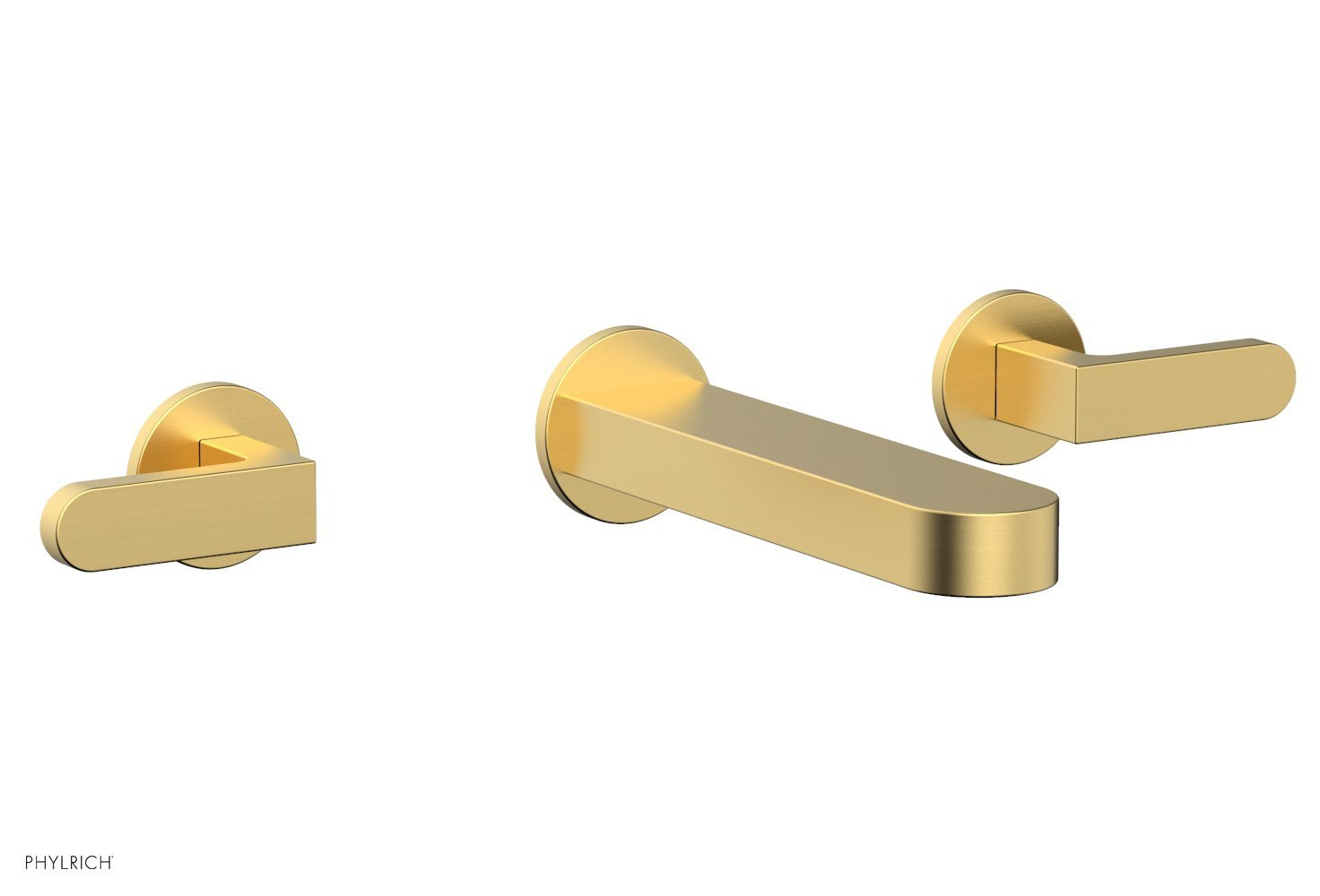 Phylrich 183-12-24B ROND Wall Lavatory Set - Lever Handles - Burnished Gold