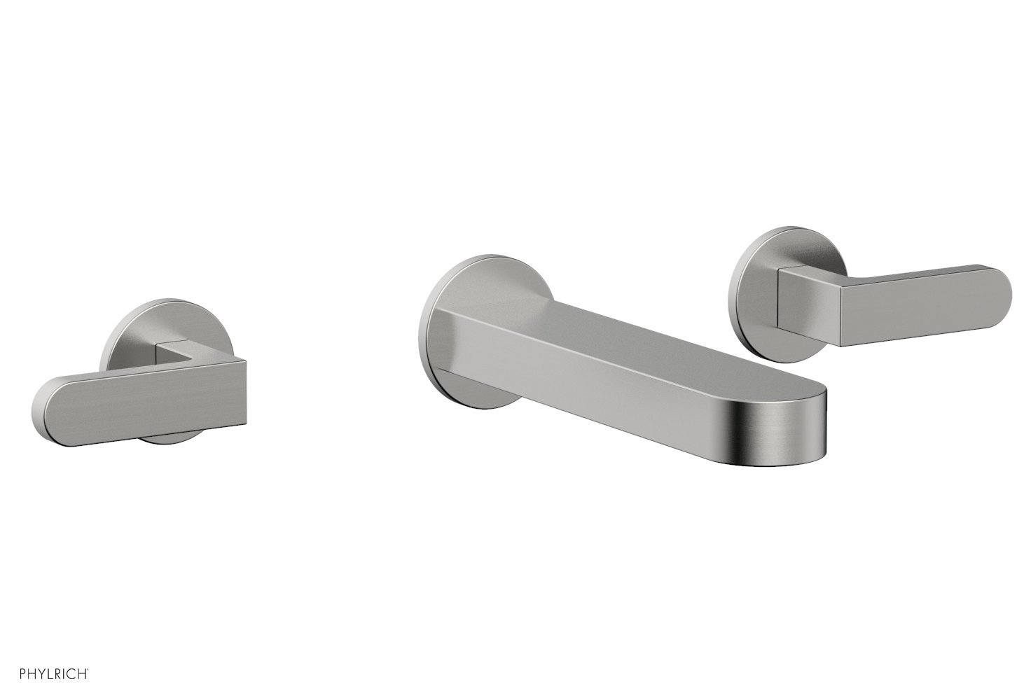 Phylrich 183-12-26D ROND Wall Lavatory Set - Lever Handles - Satin Chrome