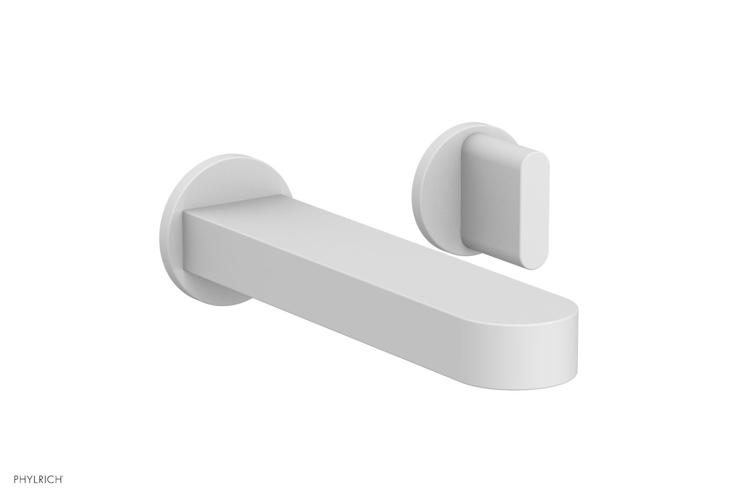 Phylrich 183-15-050 ROND Single Handle Wall Lavatory Set - Blade Handles - Satin White