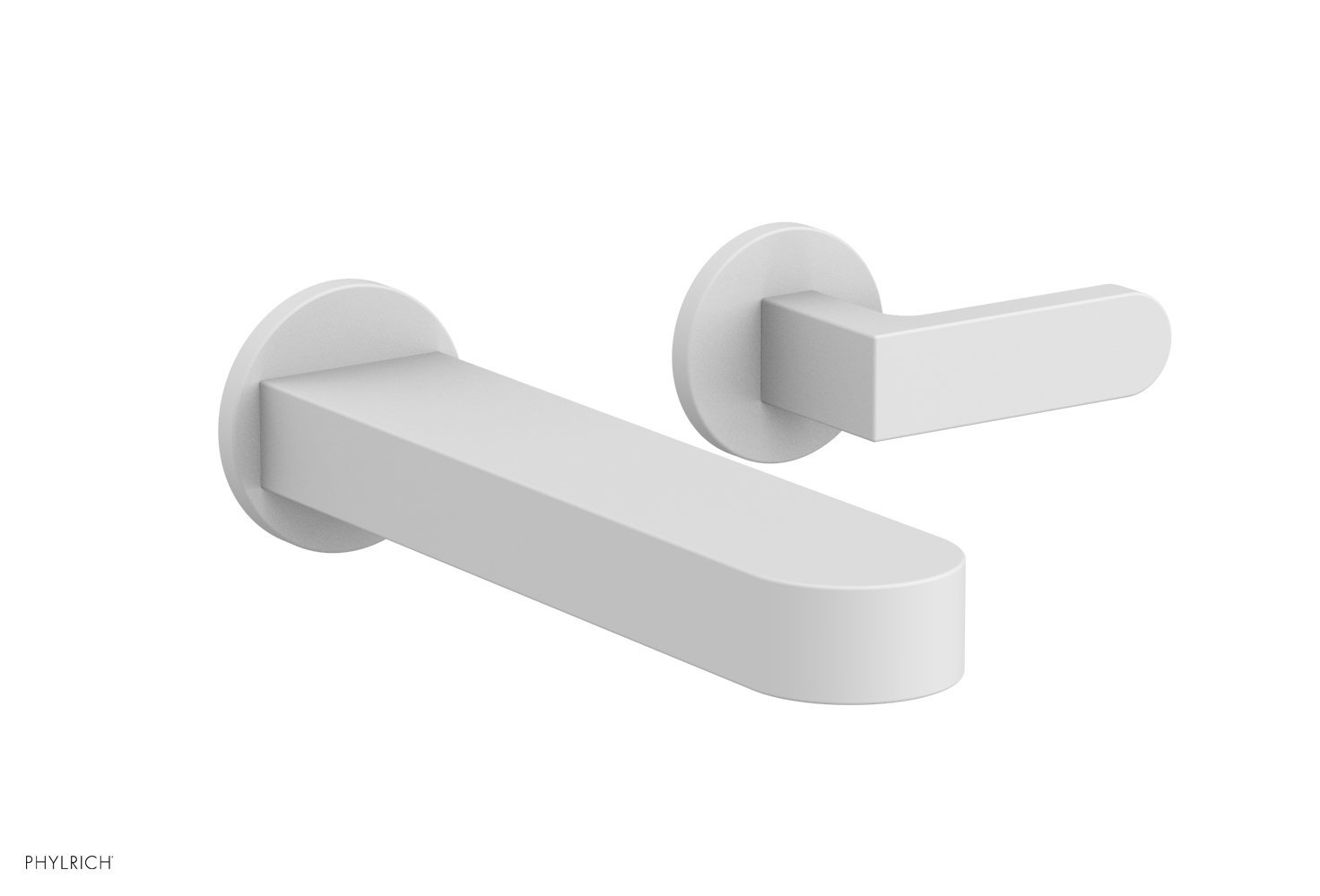 Phylrich 183-16-050 ROND Single Handle Wall Lavatory Set - Lever Handles - Satin White