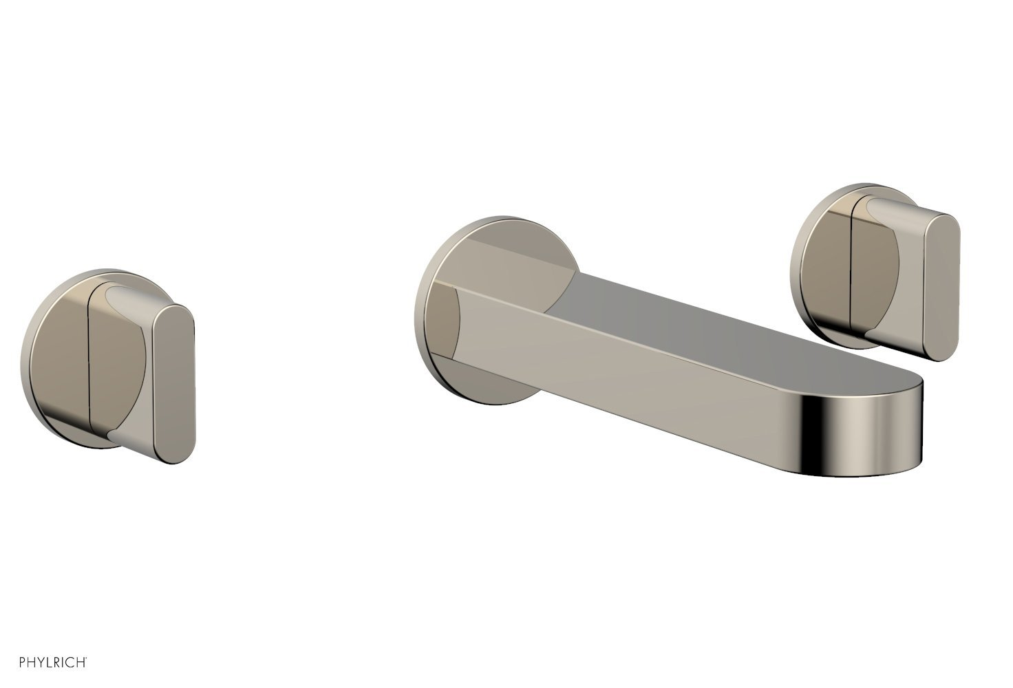 Phylrich 183-56-014 ROND Wall Tub Set - Blade Handles - Polished Nickel