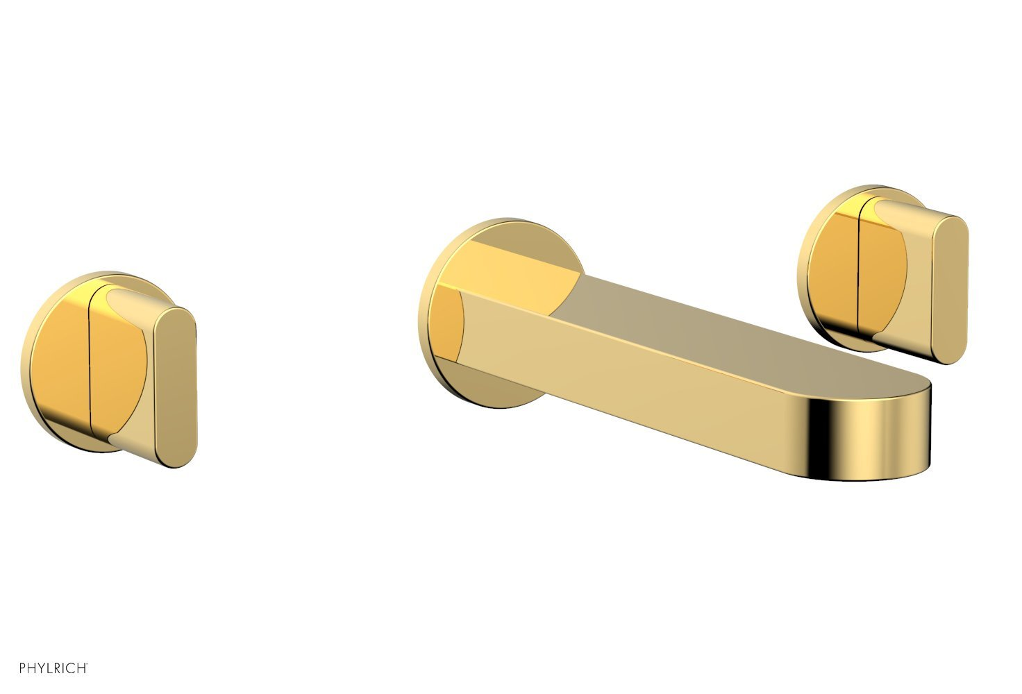 Phylrich 183-56-025 ROND Wall Tub Set - Blade Handles - Polished Gold