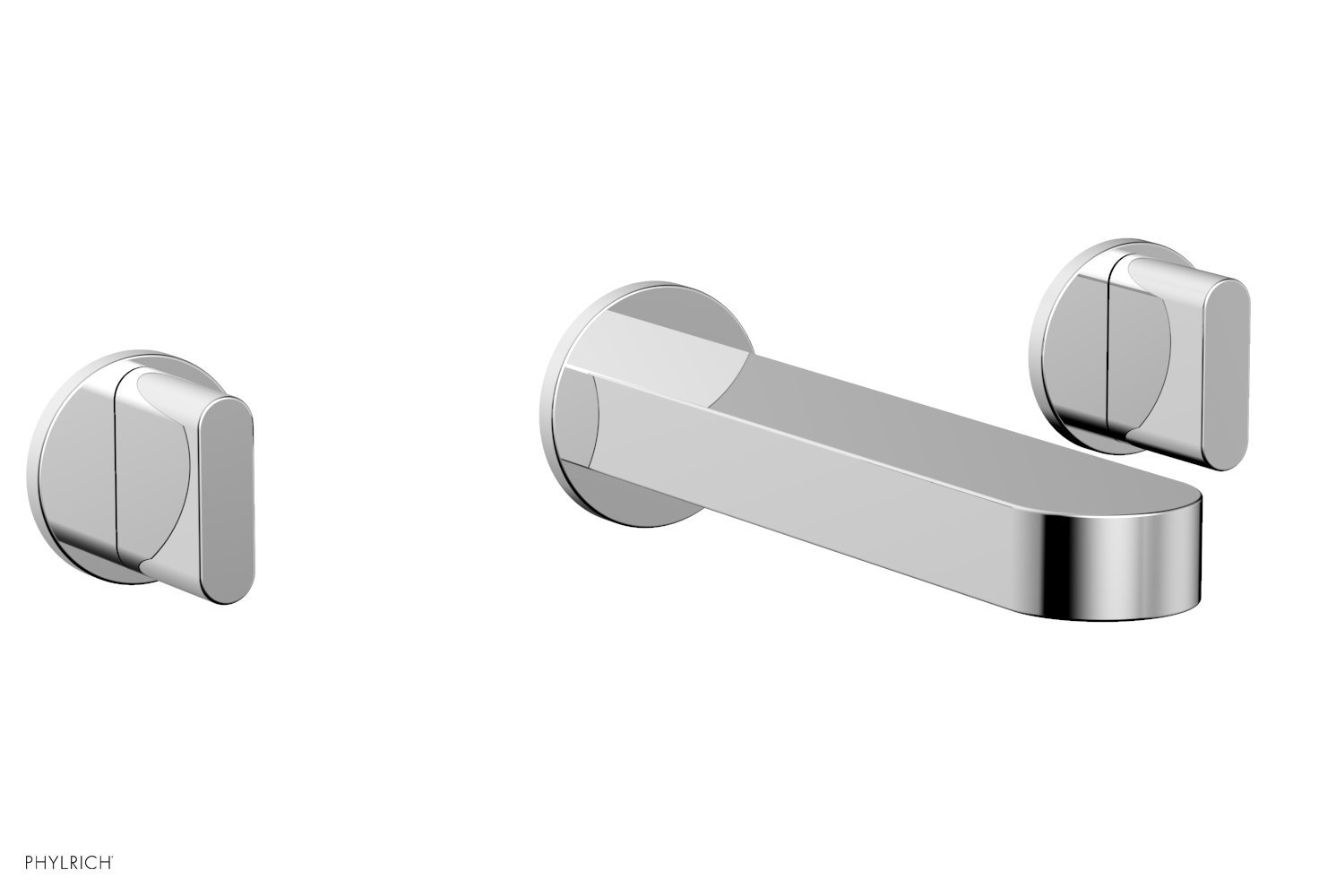 Phylrich 183-56-026 ROND Wall Tub Set - Blade Handles - Polished Chrome