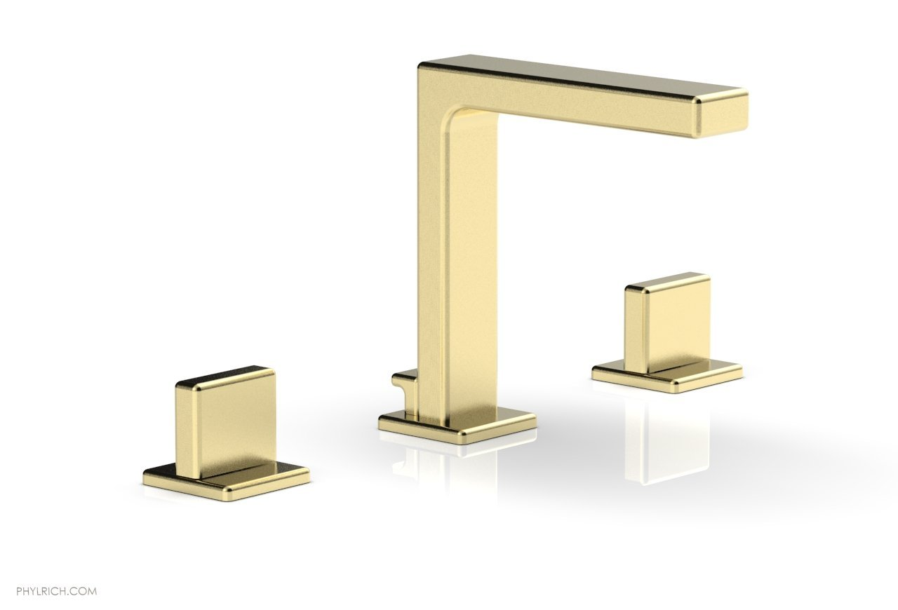 "Phylrich 290-01-03U MIX Widespread Faucet - Blade Handle 6-3/4"" Height - Polished Brass Uncoated"