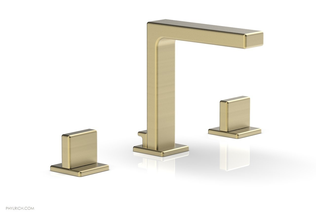 "Phylrich 290-01-24B MIX Widespread Faucet - Blade Handle 6-3/4"" Height - Burnished Gold"