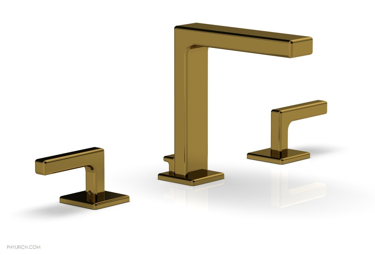 "Phylrich 290-02-002 MIX Widespread Faucet - Lever Handles 6-3/4"" Height - French Brass"