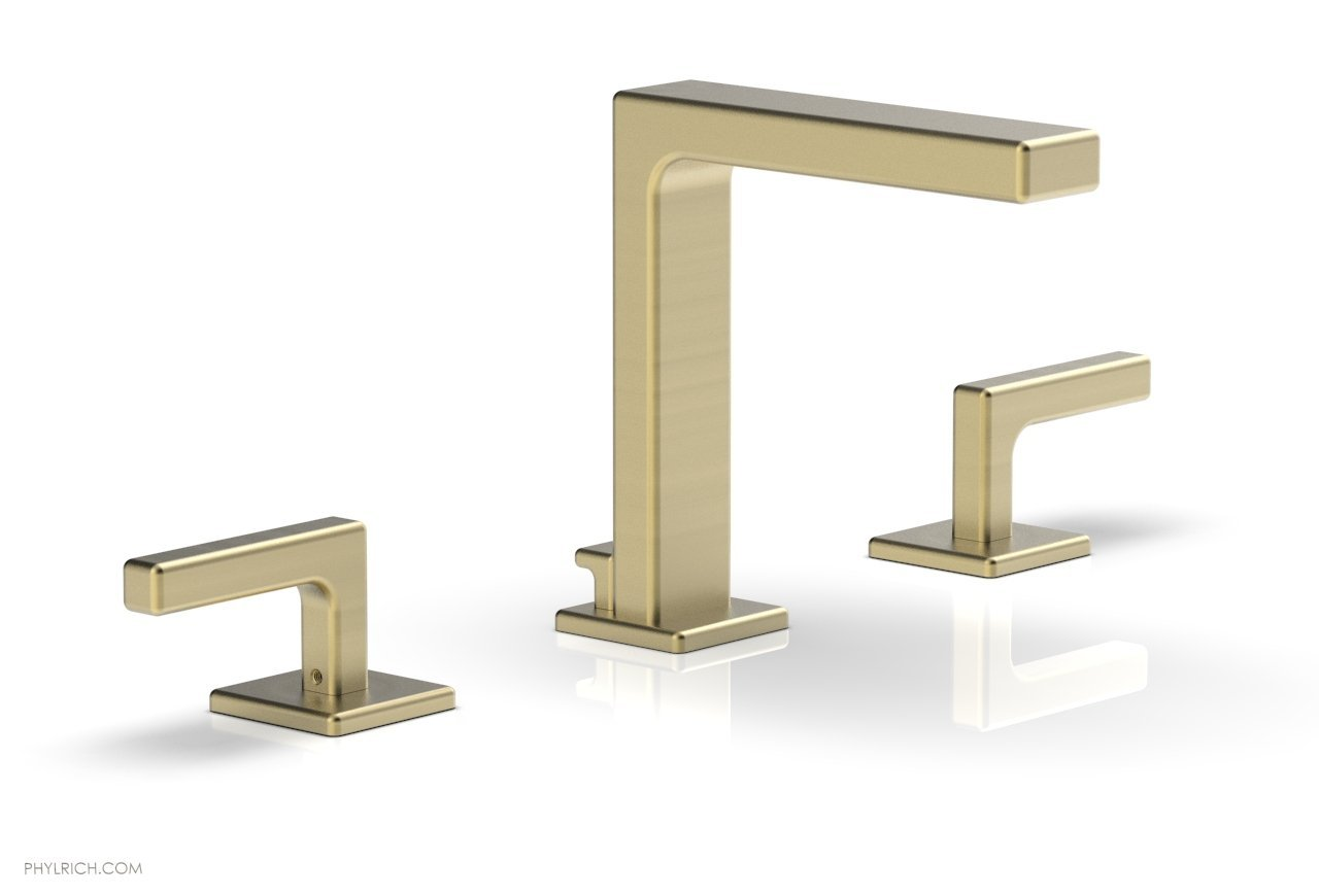 "Phylrich 290-02-24B MIX Widespread Faucet - Lever Handles 6-3/4"" Height - Burnished Gold"