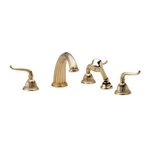 K2141P1 Phylrich Georgian Triple Handle Roman Tub Filler Faucet