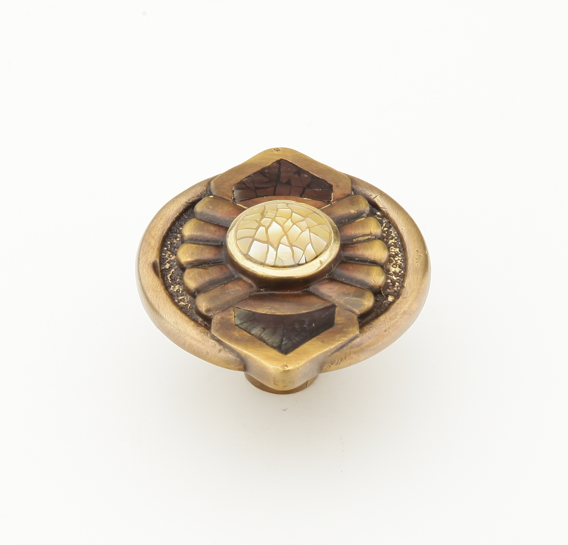 Schaub 958K Heirloom Knob - Antique Brass