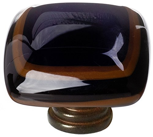 "Sietto K-101-ORB Stratum Woodland & Black 1 1/4"" Knob - Oil Rubbed Bronze"