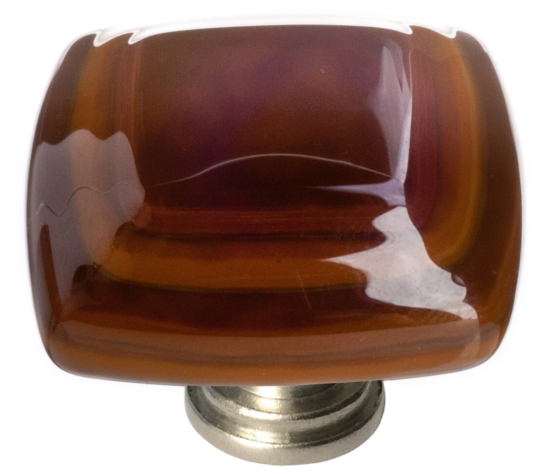 "Sietto K-102-SN Stratum Woodland & Umber 1 1/4"" Knob - Satin Nickel"