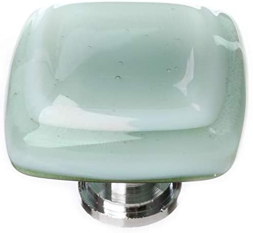 "Sietto K-103-PC Stratum Spruce Green 1 1/4"" Knob - Polished Chrome"