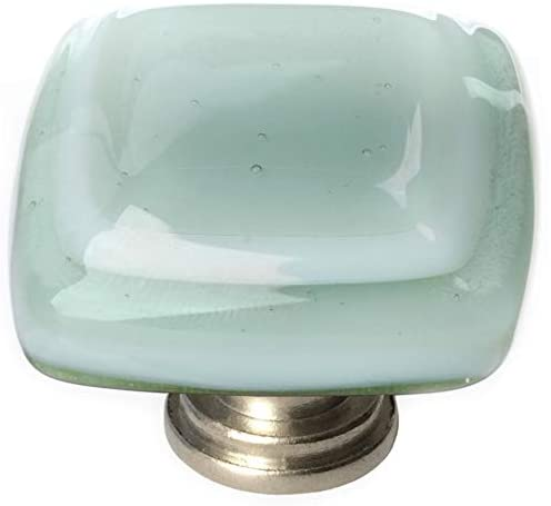 "Sietto K-103-SN Stratum Spruce Green 1 1/4"" Knob - Satin Nickel"