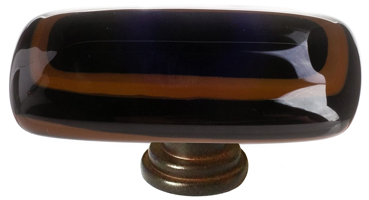 "Sietto LK-101-ORB Stratum Woodland & Black 2"" Long Knob - Oil Rubbed Bronze"