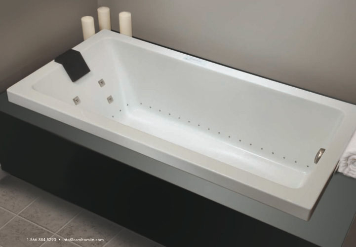 "Slik Portfolio 60Z32AF-LW Zendo 59.62"" x 32"" x 20.75"" Bathtub with Integrated Skirt in White"