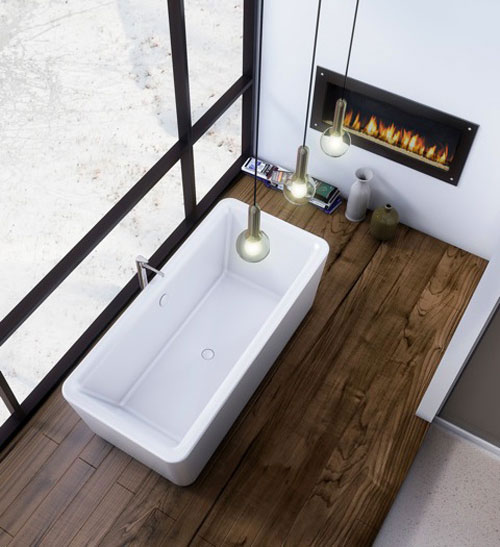 "Slik Portfolio 68FS32 Element 5.5 Feet Freestanding Bathtub in White - 67"" x 32"""