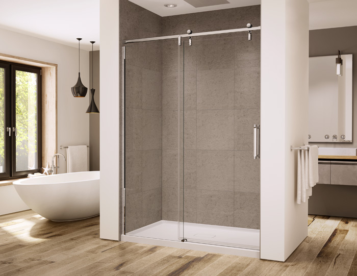 "Slik Portfolio EPS-48-11-3 Eclipse 48"" Alcove Shower Door with Polished Chrome Hardware"