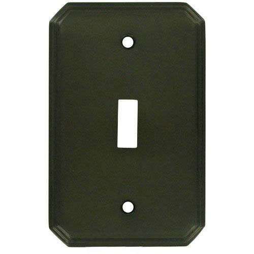 Tanners Craft L6001-1T Single Toggle Square Deco Switchplate