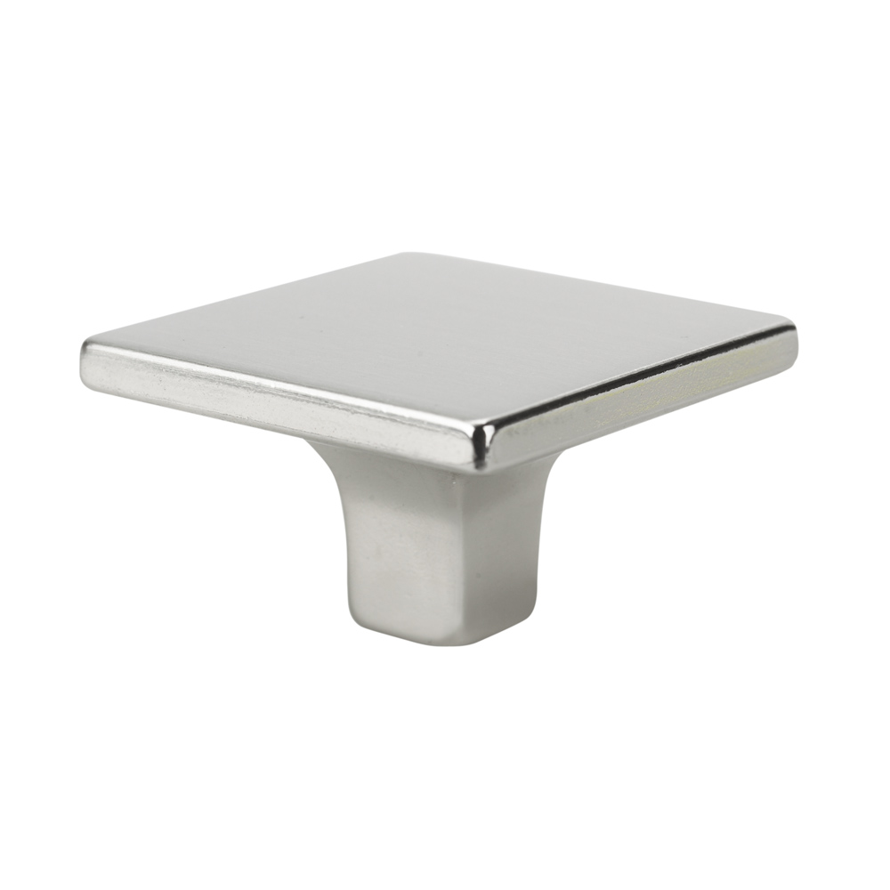 Topex Hardware 1081735C34 Small Square Knob - Satin Nickel