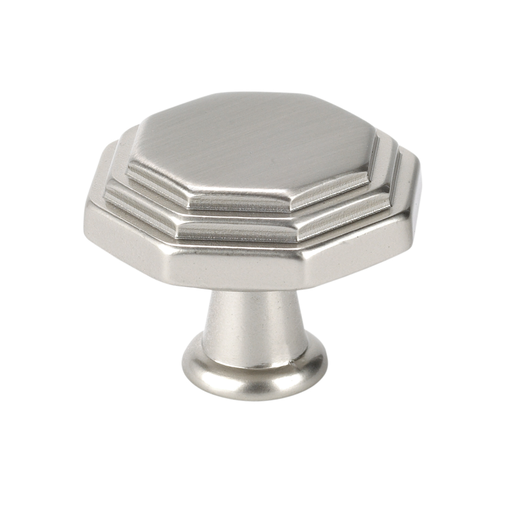 Topex Hardware 10819B35 Octagon Cabinet Knob - Satin Nickel
