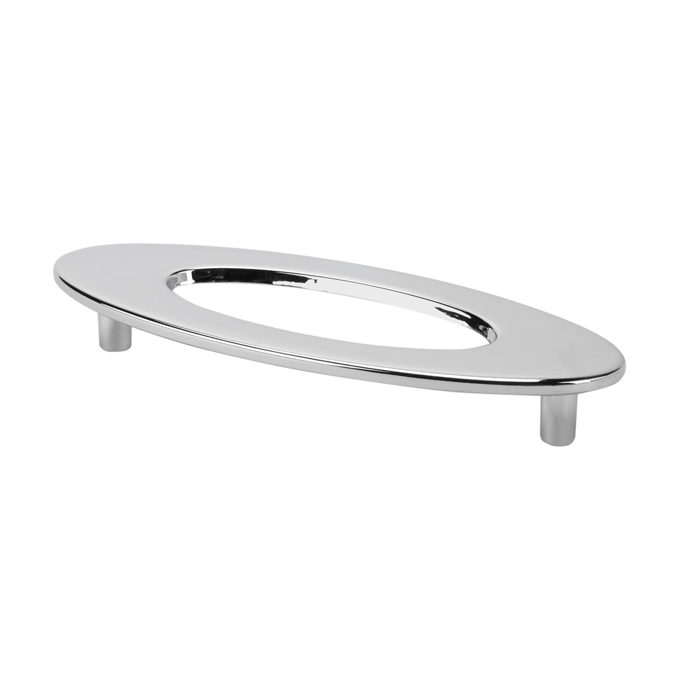 "Topex Hardware 2564340 Oval Cabinet Pull with Hole 3.77"" (C-C) - Chrome"