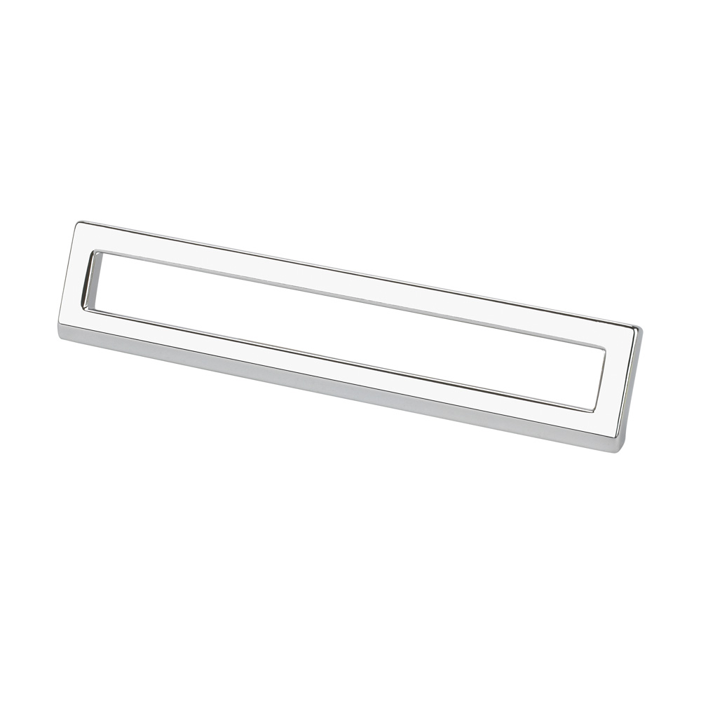 "Topex Hardware 8-102216012840 Bent Rectangular Pull 5.03"" or 6.29"" (C-C) - Chrome"