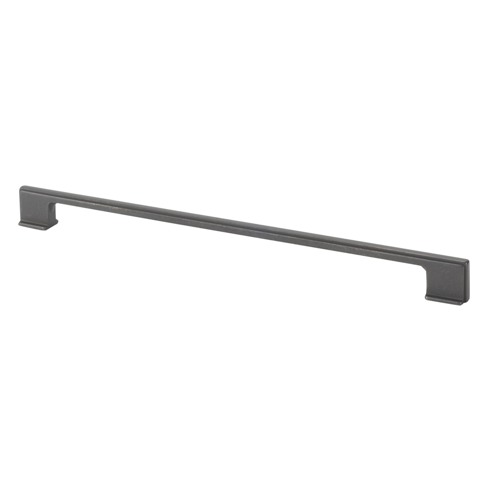 "Topex Hardware 8-1032032027 Thin Square Cabinet Pull Handle 12.5"" (C-C) - Dark Bronze"