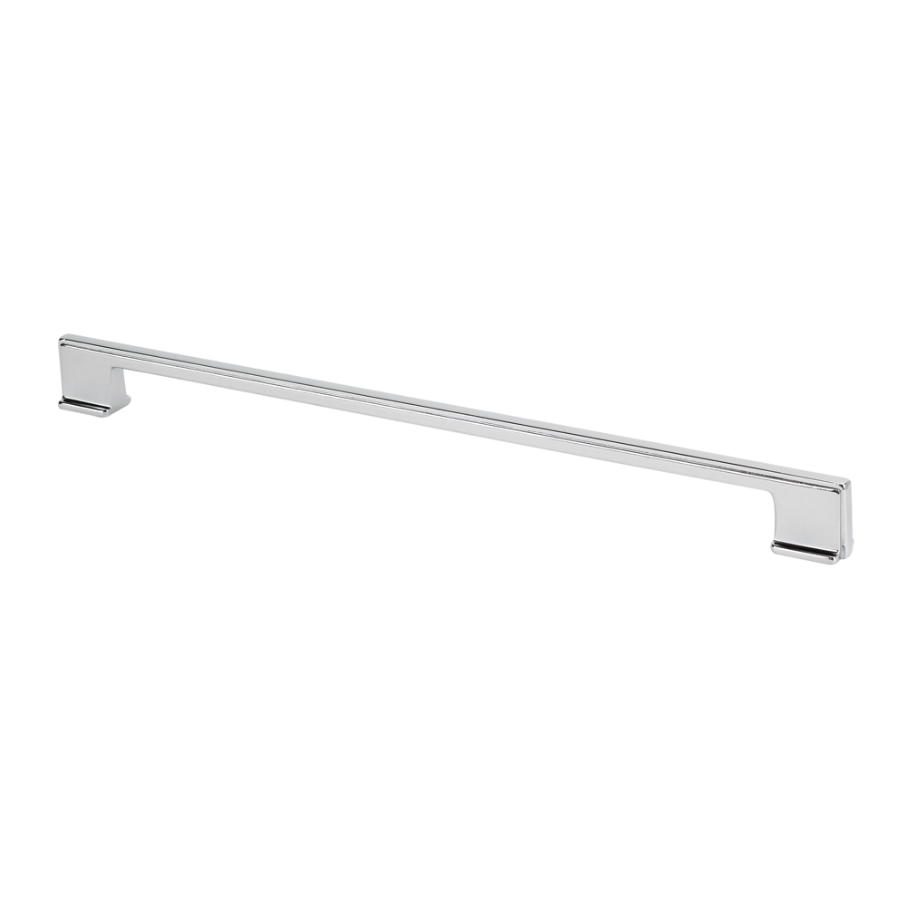 "Topex Hardware 8-1032032040 Thin Square Cabinet Pull Handle 12.5"" (C-C) - Chrome"