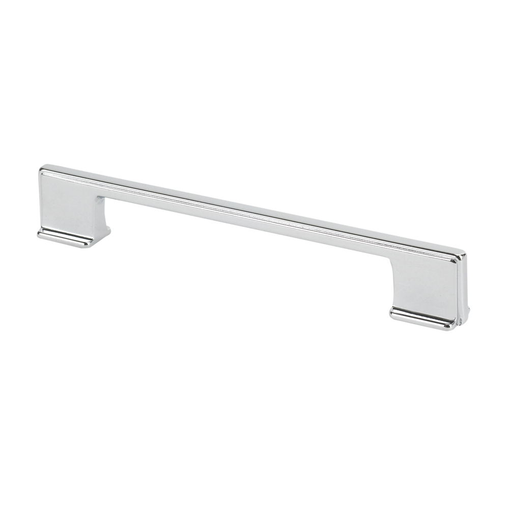 "Topex Hardware 8-103216012840 Thin Square Cabinet Pull Handle 5.03"" or 6.29"" (C-C) - Chrome"