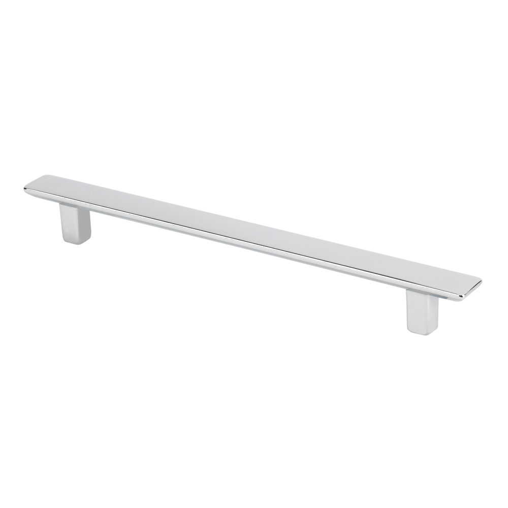 "Topex Hardware 8-1051012840 Thin Rectangular Pull 5.03"" (C-C) - Bright Chrome"