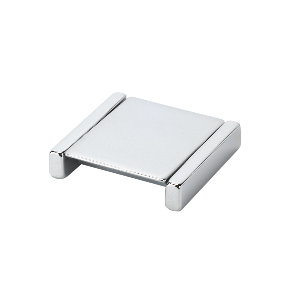 "Topex Hardware 8-1106320040 Small Square Folding Pull 1.25"" (C-C) - Bright Chrome"
