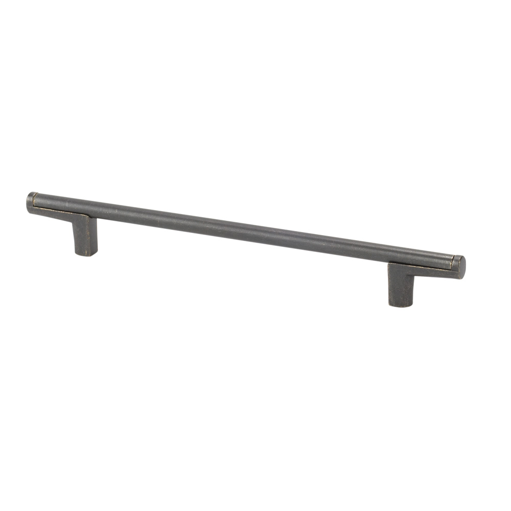 "Topex Hardware 8-112101602727 Thin Round Bar Cabinet Pull Handle 6.29"" (C-C) - Dark Bronze"