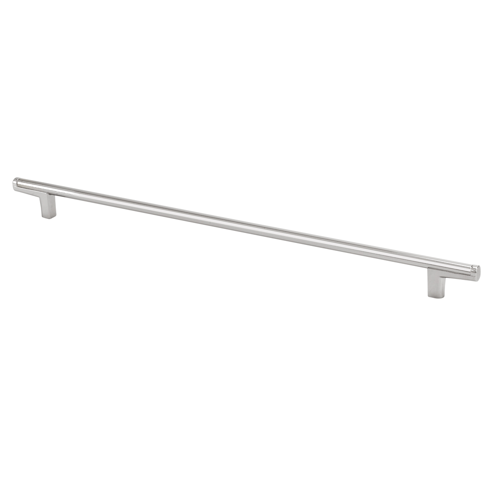 "Topex Hardware 8-112103203533 Thin Round Bar Cabinet Pull Handle 12.5"" (C-C) - Satin Nickel"
