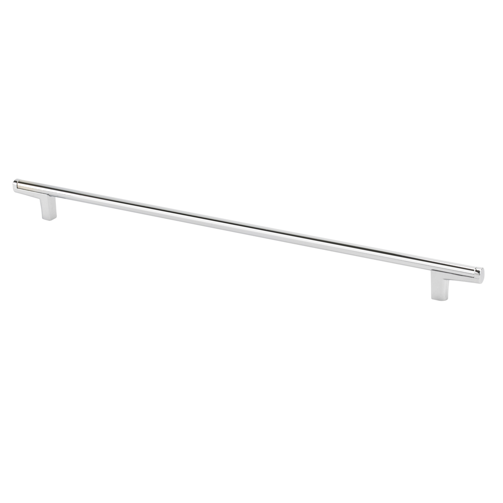 "Topex Hardware 8-112103204040 Thin Round Bar Cabinet Pull Handle 12.5"" (C-C) - Chrome"