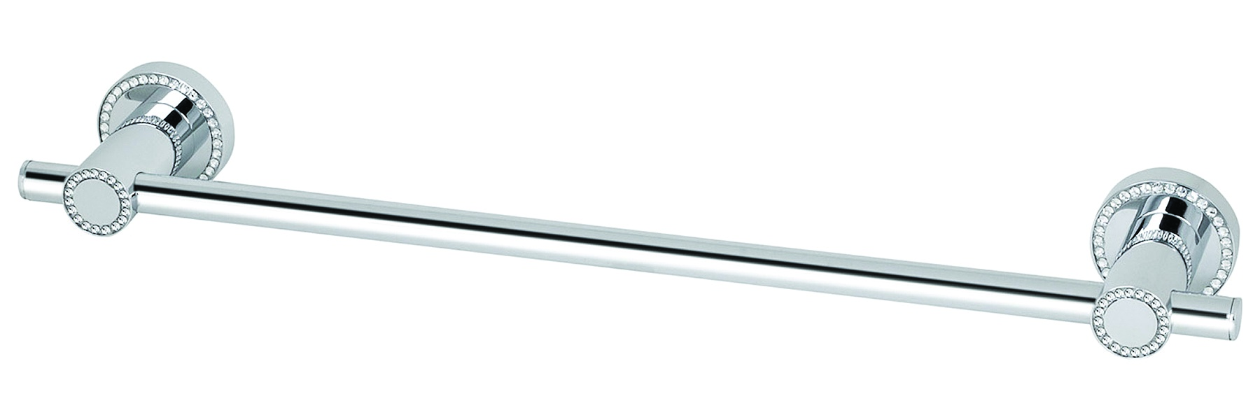 "Topex Hardware A101030201 18"" Towel Bar Swarovski Crystals - Chrome"