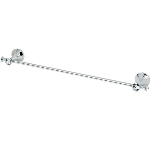 "Topex Hardware A102030201 18"" Towel Bar with Glass Crystals - Chrome"