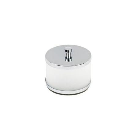 Topex Hardware A203080901 Free Standing Q-Tip Cotton Jar - Chrome