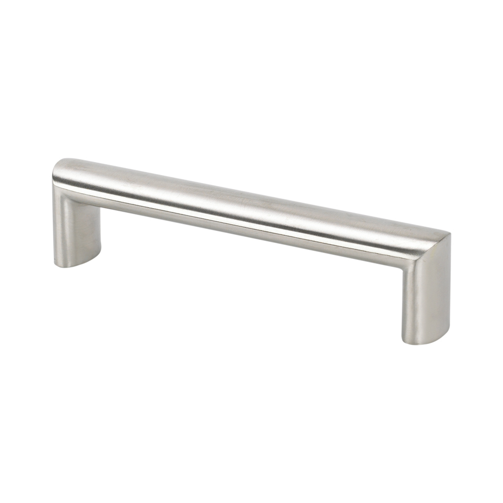 "Topex Hardware FH029096 Oval Cabinet Pull 3.77"" (C-C) - Stainless Steel"