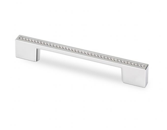 "Topex Hardware M3805.96128CRLSWA Rectangular Pull Chrome Swarovski Crystal 3.8"" or 5.03"" (C-C) - Chrome"