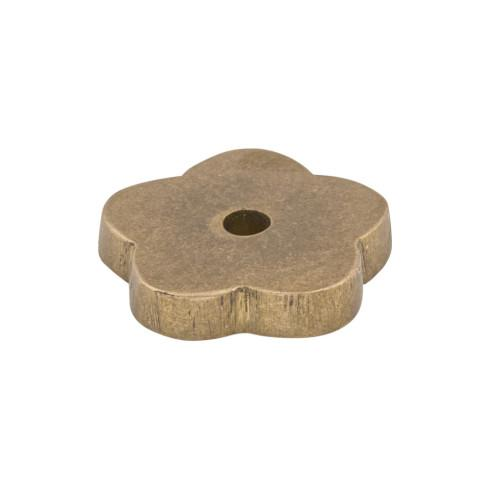 Top Knobs M1426-LB Aspen Flower Backplate 1 Inch - Light Bronze