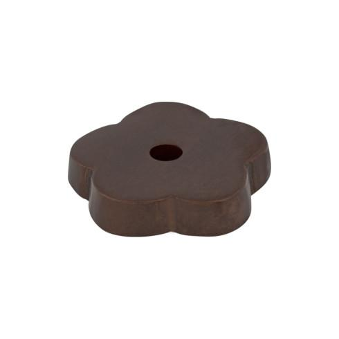Top Knobs M1428-MCB Aspen Flower Backplate 1 Inch - Mahogany Bronze