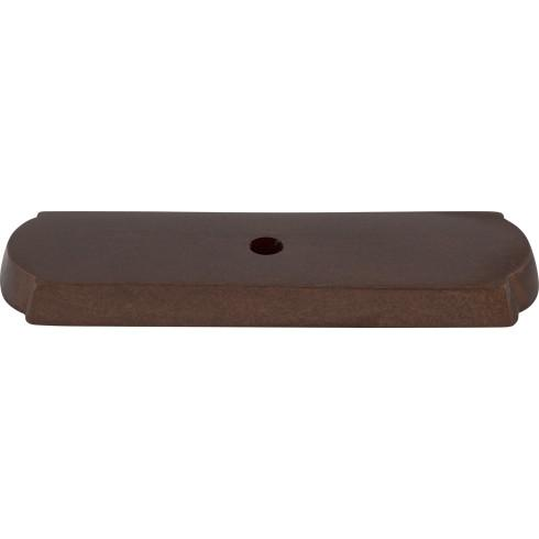 Top Knobs M1433-MCB Aspen Rectangle Backplate 2 1/2 Inch - Mahogany Bronze