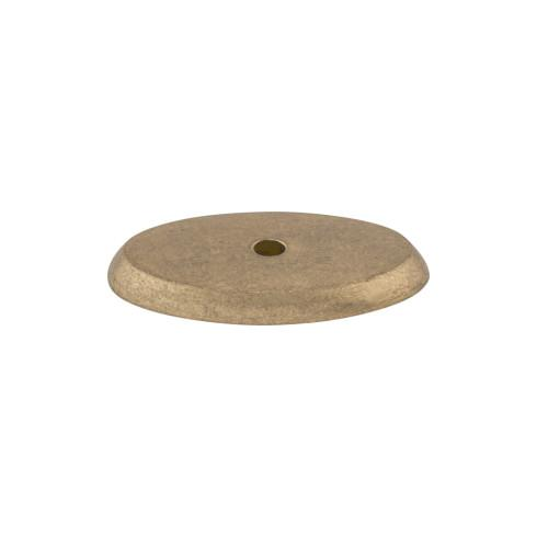 Top Knobs M1441-LB Aspen Oval Backplate 1 3/4 Inch - Light Bronze