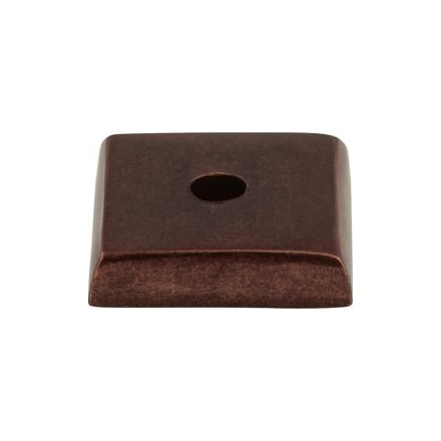 Top Knobs M1448-MCB Aspen Square Backplate 7/8 Inch - Mahogany Bronze