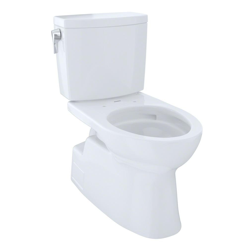 Toto CST474CUFG#01 Vespin II 1G Two-Piece Toilet, Elongated Bowl - 1.0 GPF - Cotton