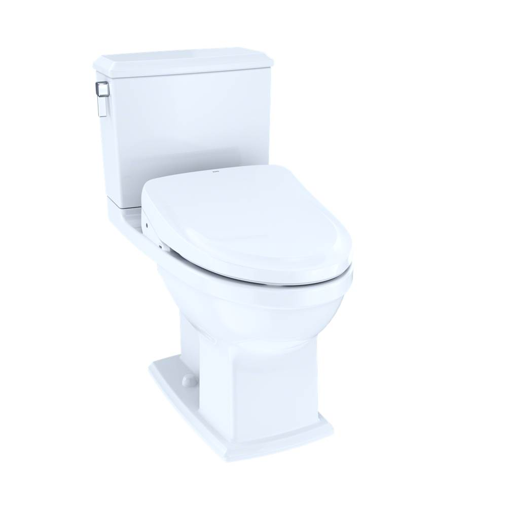 Toto MW4943054CEMFG#01 Connelly - WASHLET+ S550e Two-Piece Toilet - 1.28 GPF & 0.9 GPF - Cotton