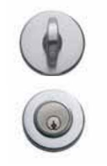 101-RP-26D Valli & Valli Single Cylinder Deadbolt - Satin Chrome