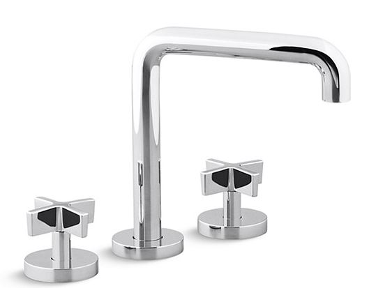 Kallista P24405-CR-CP ONE Deck mount Bath Faucet. Cross Handles - PC