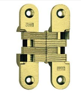 216 SOSS Invisible Self Closing Hinge- Satin Brass